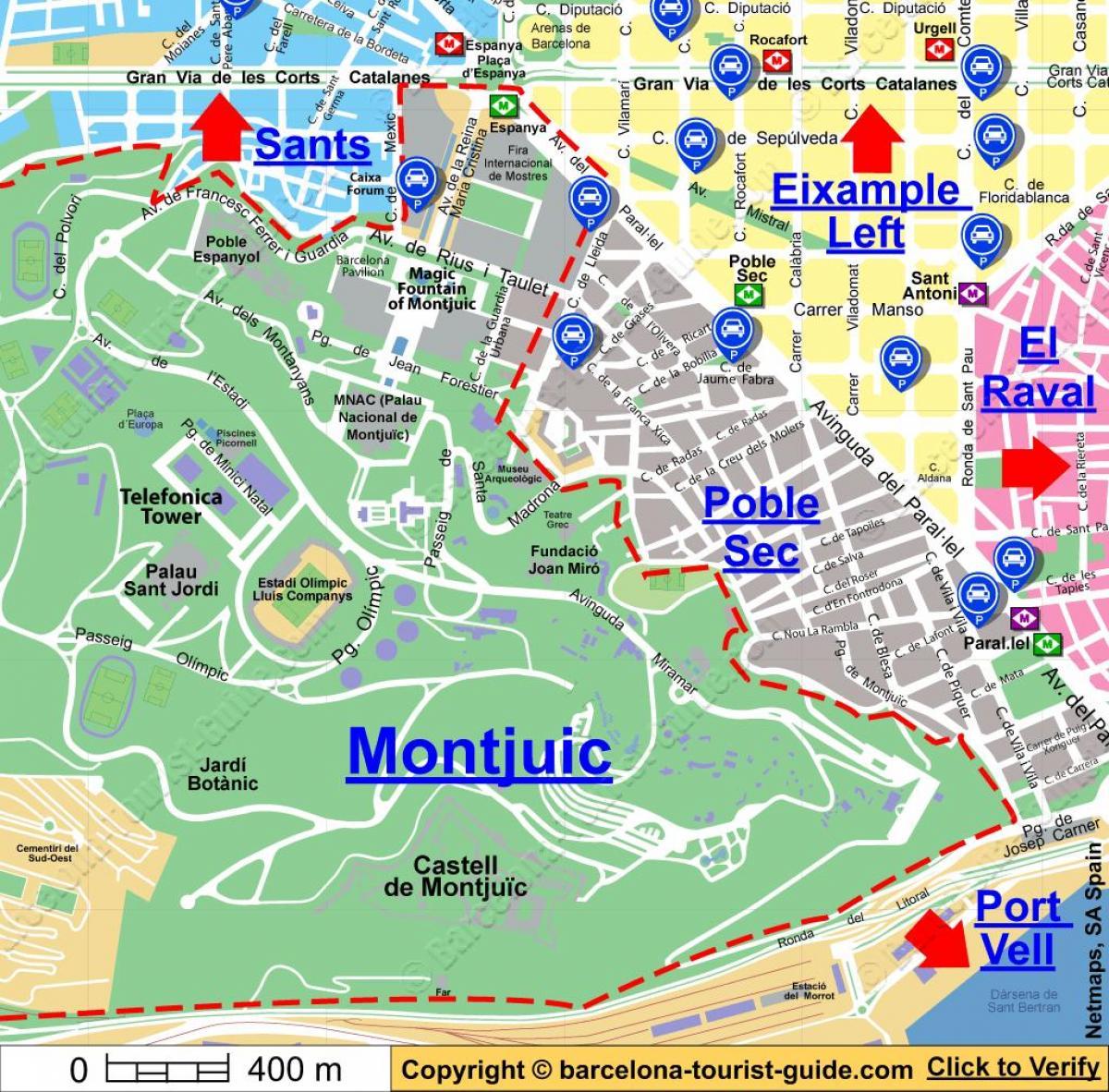 Spanien Katalonien Karte.Barcelona Auto Parken Map Barcelona Parkzonen Karte