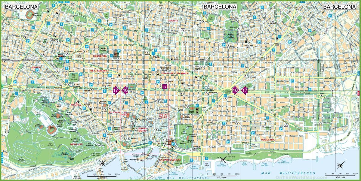 Spanien Katalonien Karte.Barcelona Karte Eine Karte Von Barcelona Katalonien Spanien