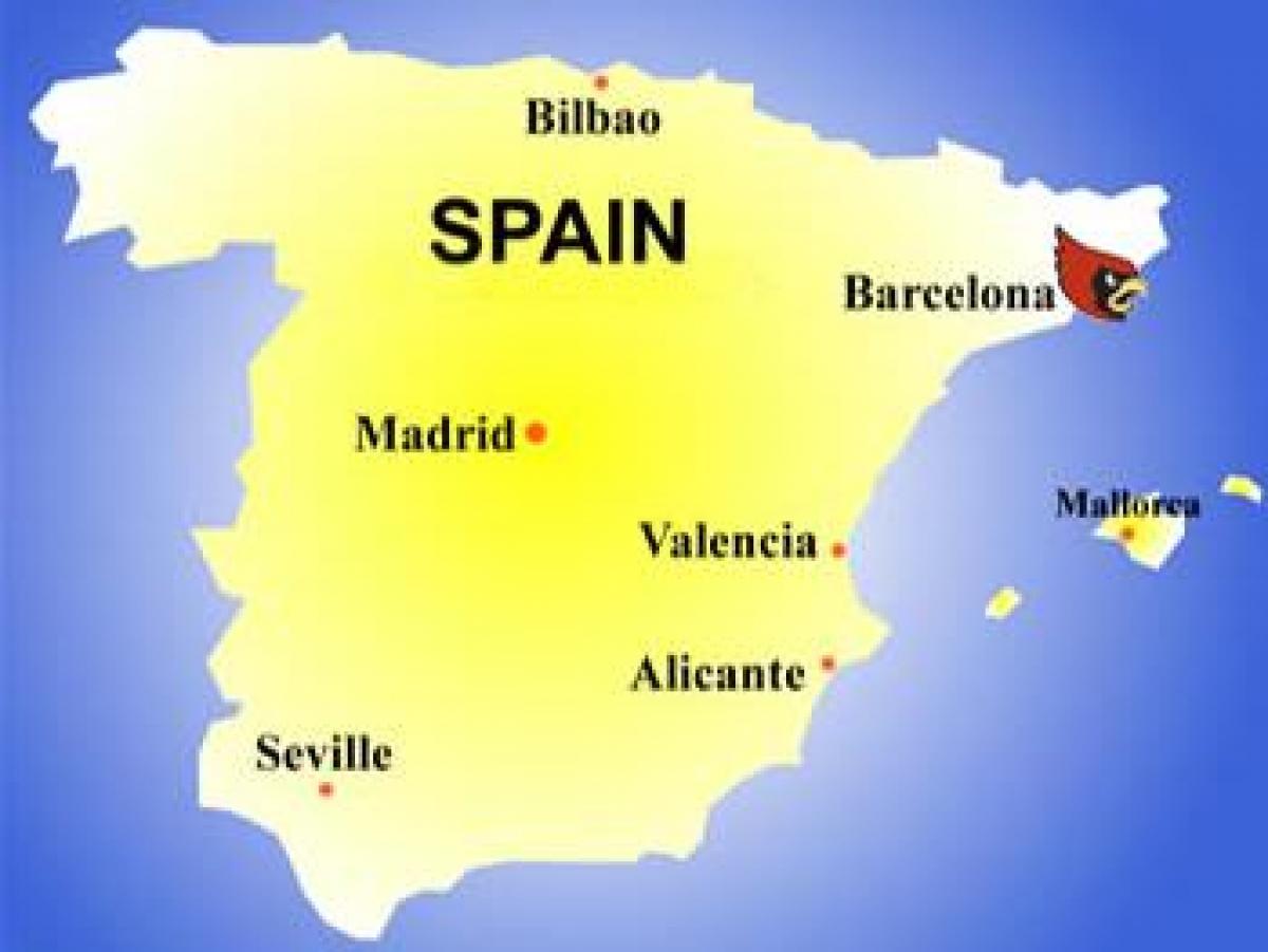 Spanien Katalonien Karte.Barcelona Landkarte Karte Von Barcelona Landes Katalonien Spanien