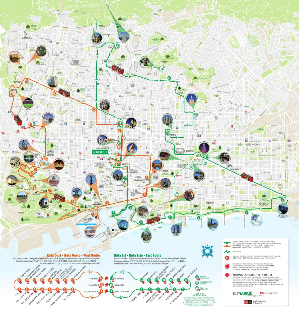 Barcelona Sehenswürdigkeiten Karte.Barcelona Touristische Landkarte Karte Von Barcelona