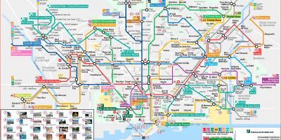 Barcelona Sehenswürdigkeiten Karte.Barcelona Map Karten Barcelona Katalonien Spanien